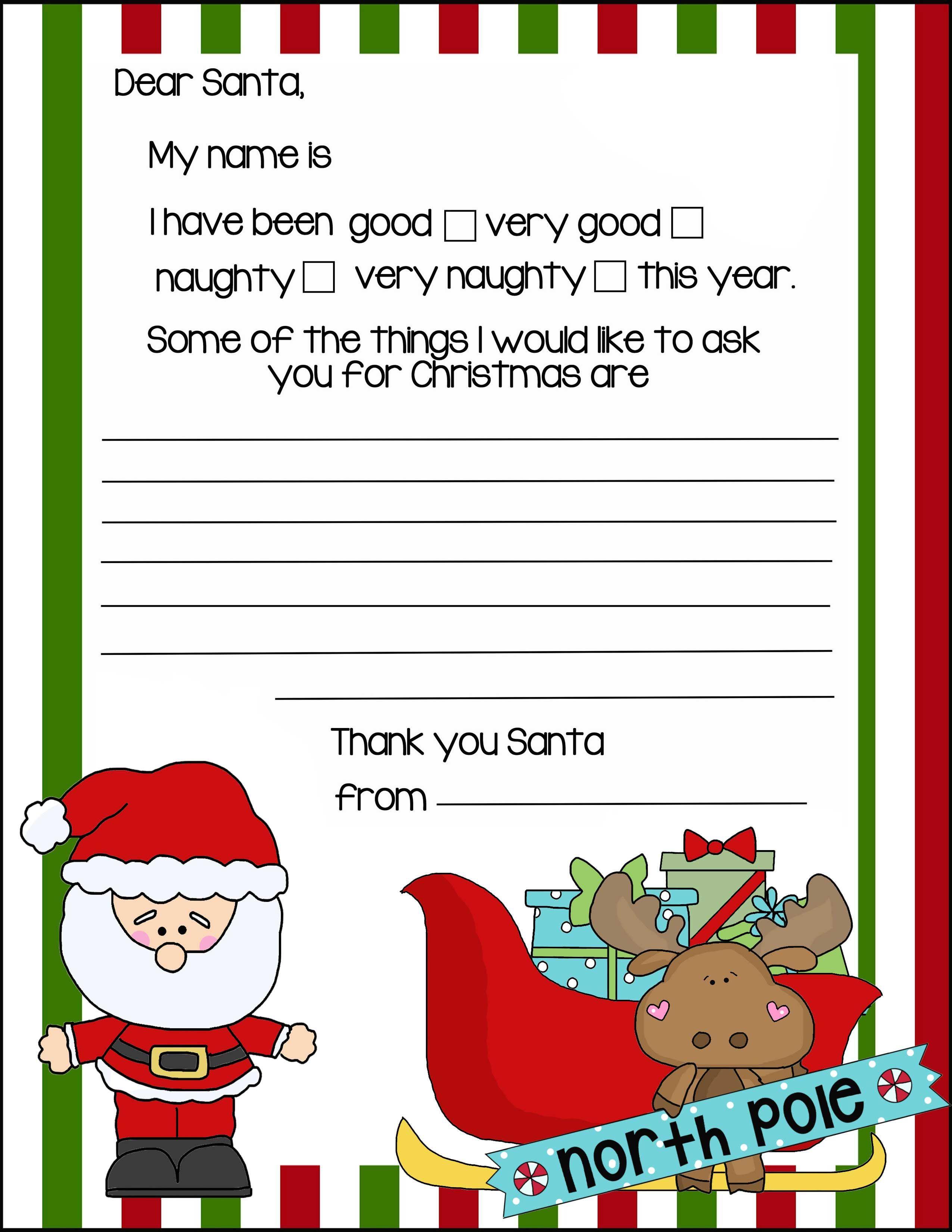 North Pole Letter To Santa