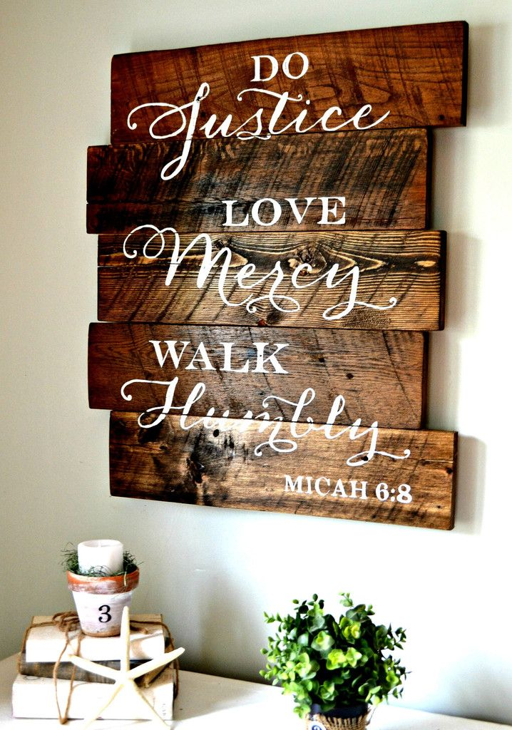"""""""Do Justice"""" wood sign {customizable} - Aimee Weaver Designs"""
