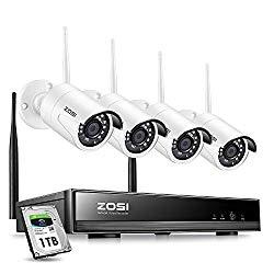 Zosi 4ch 1080p Hd Wireless Security Camera System With Nvr Security Camera System Wireless Security Camera System Wireless Security Cameras