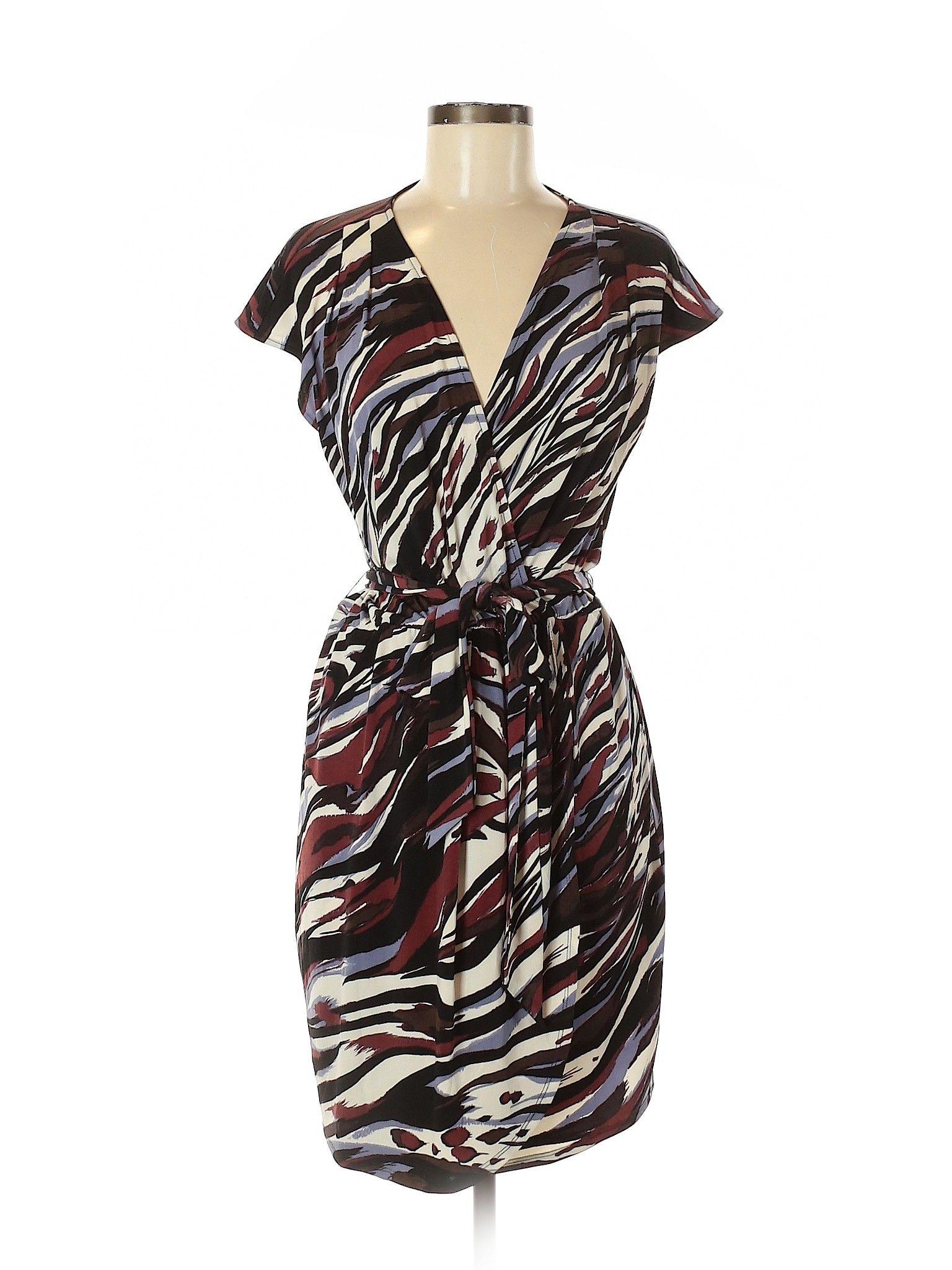 Banana Republic Factory Store Casual Dress Sheath Brown
