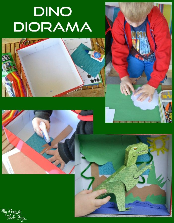 How to make a fun dino diorama - great kids craft idea!