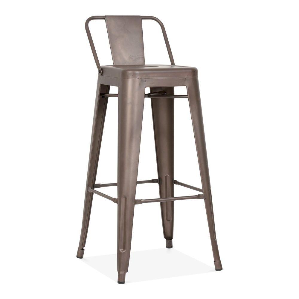 Ansprechend Barhocker Mit Niedrigem Rucken Perfekt Tolix Style Metall Stuhl Ruckenlehne Rustikalen Kult Uk Zahler Metal Bar Stools Bar Stools Bar Stool Chairs