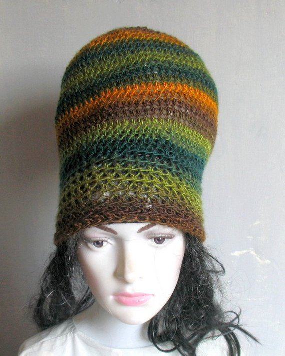 07f24812 4 COLORS Dreadlock Tam Hat Large Beanie Oversized Beanie Slouchy Dreadlocks  hat for Men Women Knit
