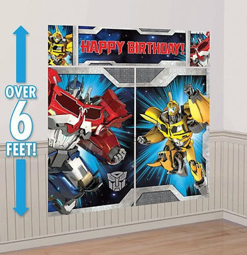 Transformers Scene Setter Happy Birthday Party Wall Decoration Kit