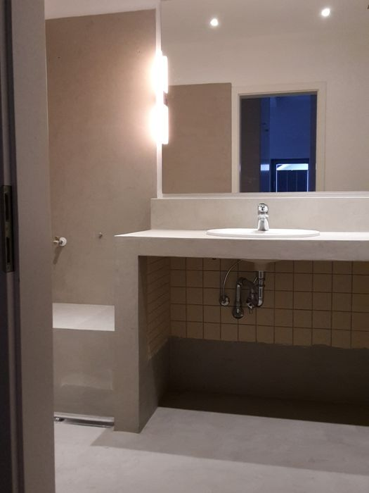 Beton cire, fugenlose Badgestaltung Rhein Neckar Gebiet - badezimmer design badgestaltung