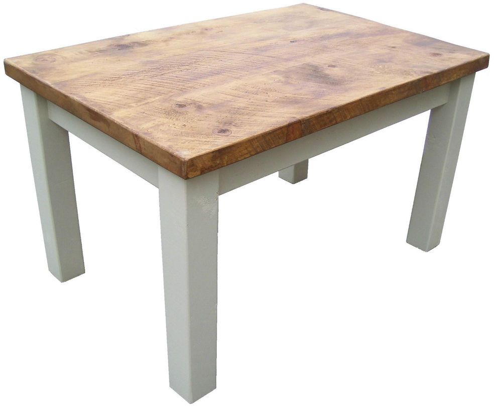Pine Farmhouse Kitchen Table Rustic Plank Pine Farmhouse Kitchen Table Unfinished Waxed Or