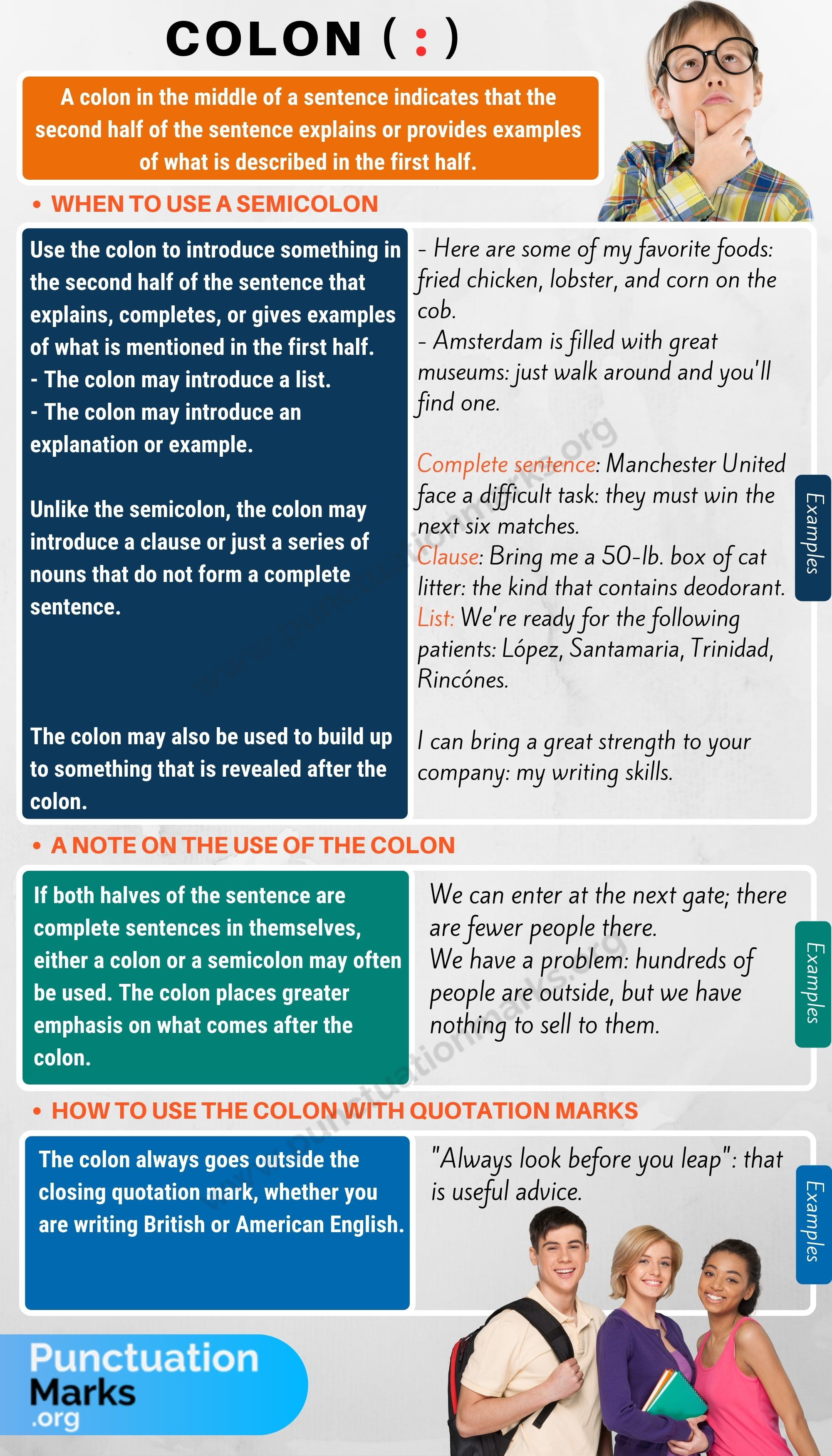 Colon When To Use A Colon With Colon Punctuation Rules