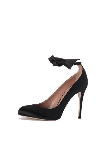 5f8303725e7 red valentino satin ankle bow heels - Google Search
