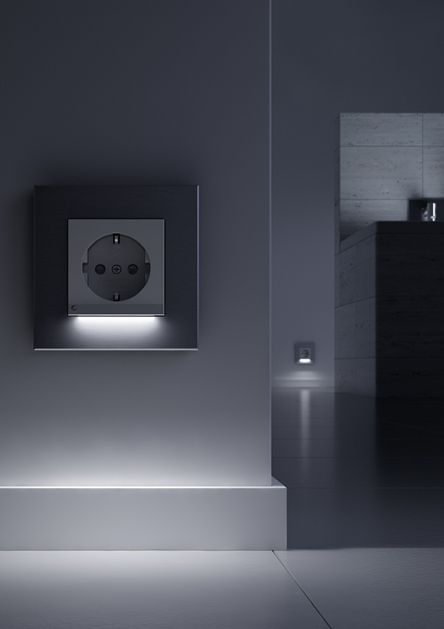 Gira Socket Outlet With Led Orientation Light Verlichting Ideeen Verlichting Led