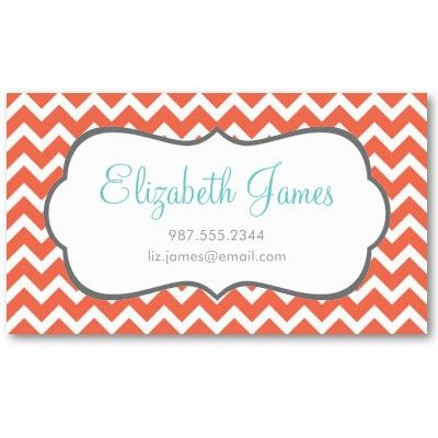 Coral chevron business card template by jenniferstuartdesign coral chevron business card template by jenniferstuartdesign colourmoves