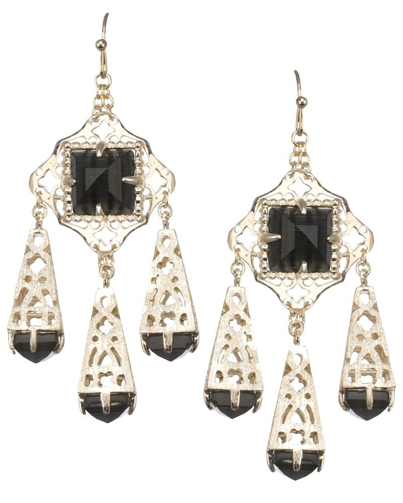Venita chandelier earrings in black kendra scott jewelry venita chandelier earrings in black kendra scott jewelry arubaitofo Images