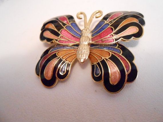 Hey, I found this really awesome Etsy listing at http://www.etsy.com/listing/158945159/vintage-brooch-butterfly-brooch-enamel