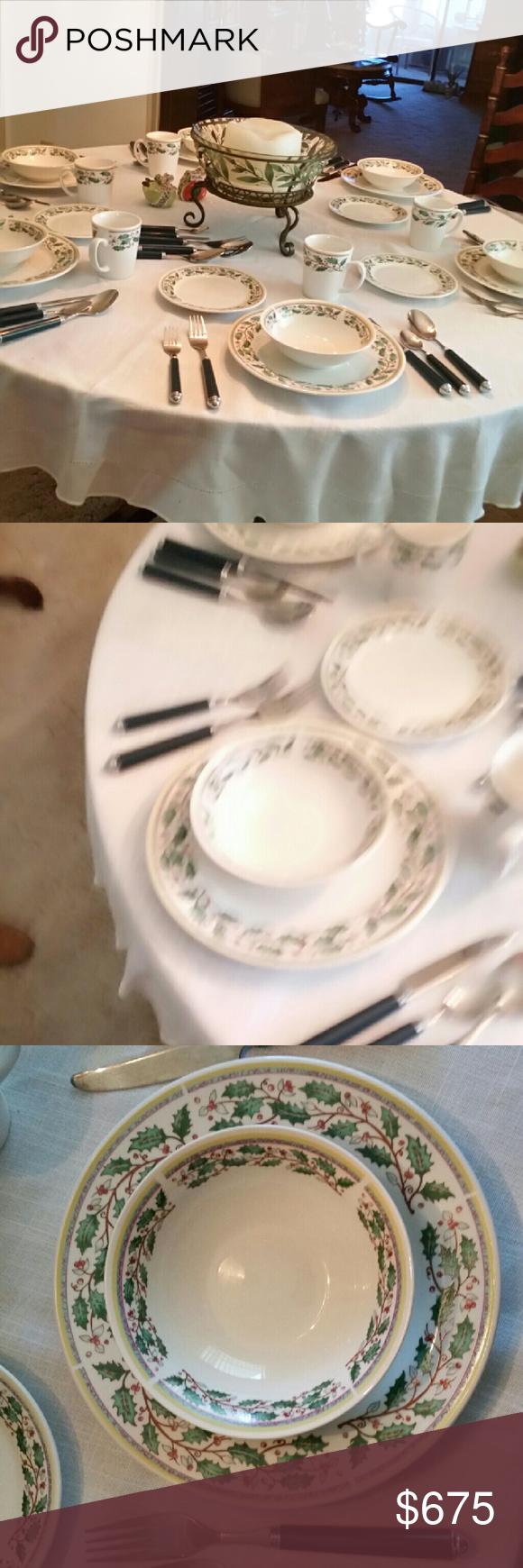 Gibson Christmas China table setting Home deco   Christmas china ...