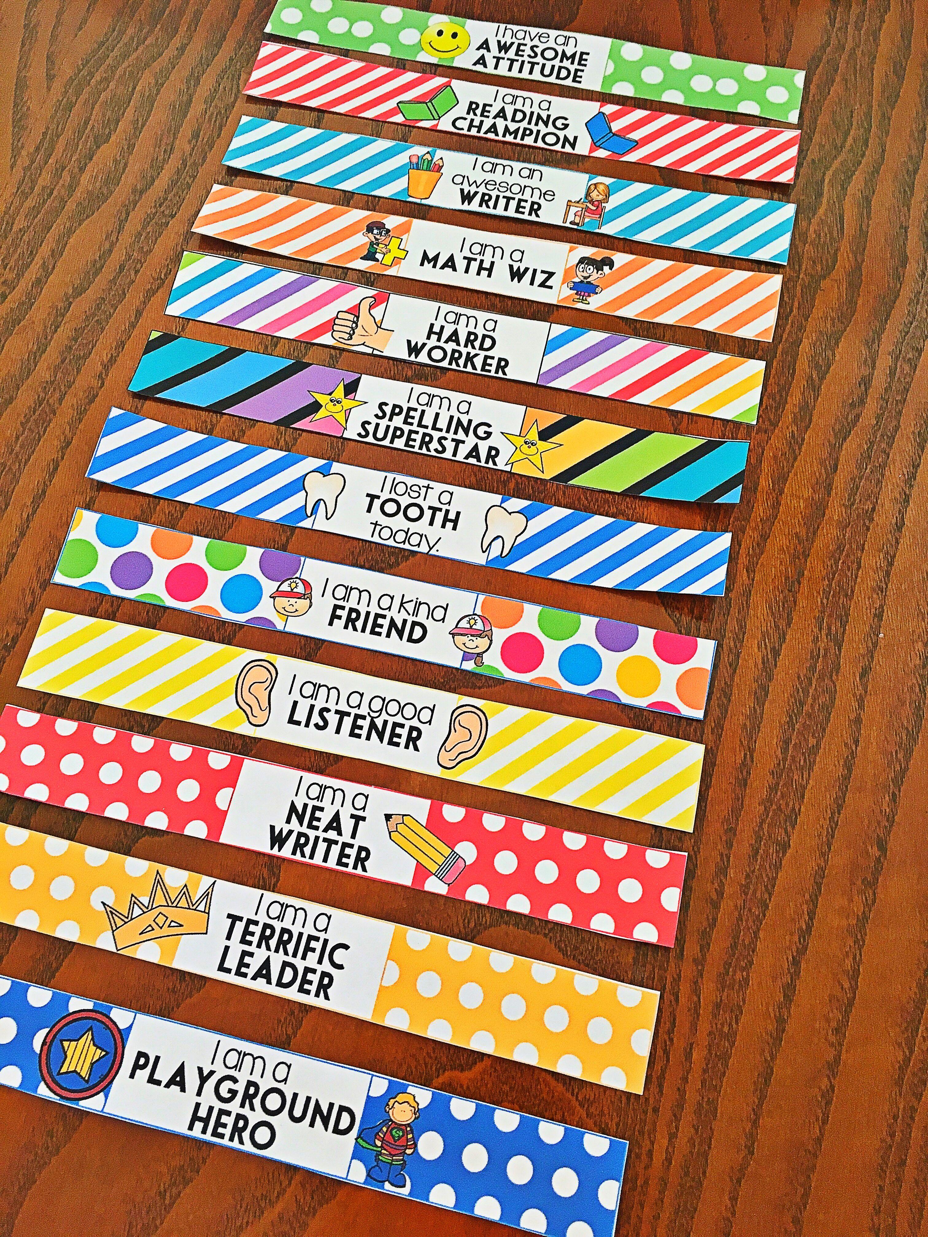 COLOR Brag Bracelets Classroom Behavior Management