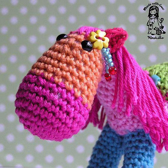 Crochet Pattern By Vendulkam Christmas Rocking Horse Por Vendulkam