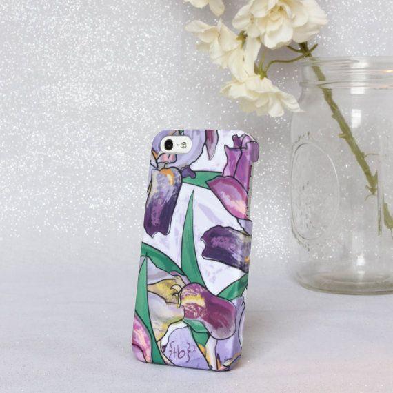 iris BLOOM iphone 5/5s case by shopthebugandthebird on Etsy