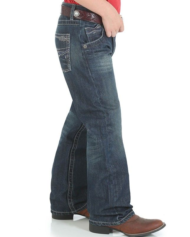 288b8fe9 Wrangler 20X Boys No. 42 Dark Wash Vintage Boot Cut Jeans | Kid's ...