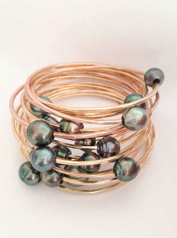 Make Your Own Tahitian Pearl Thick 12  or 14 Gauge by erina808, $80.00