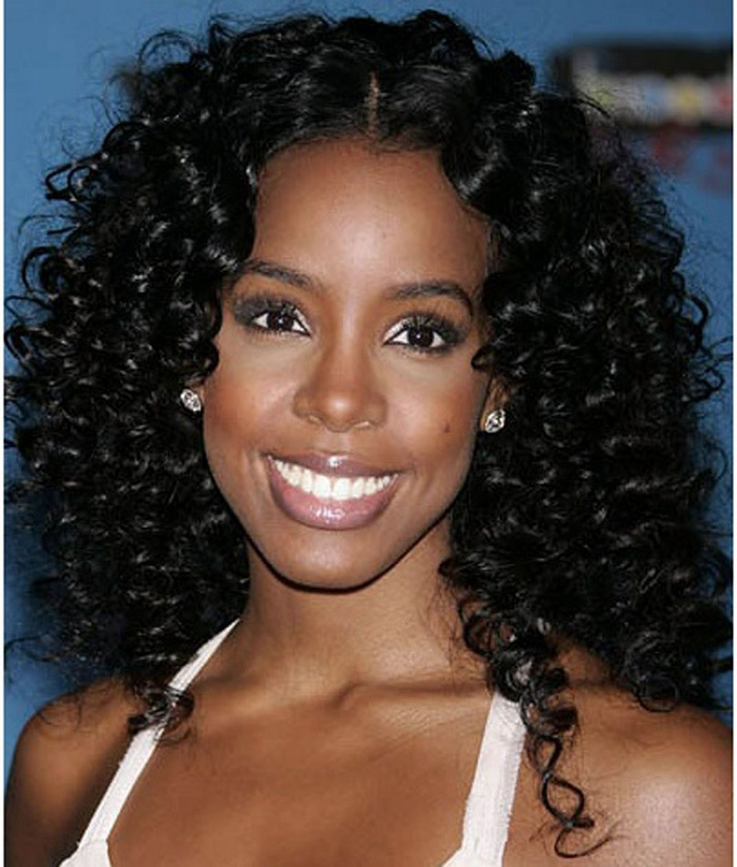 Kelly Rowland Natural hair styles easy, Medium curly
