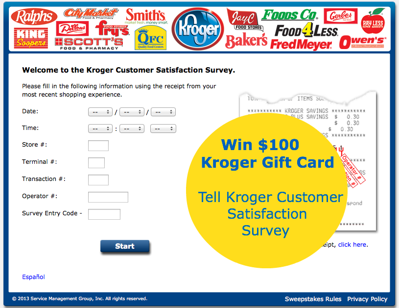 Kroger Customer Satisfaction Survey Enables Customers To Give