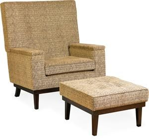 Amish Made Upholstered High Back Lounge Glider Chair