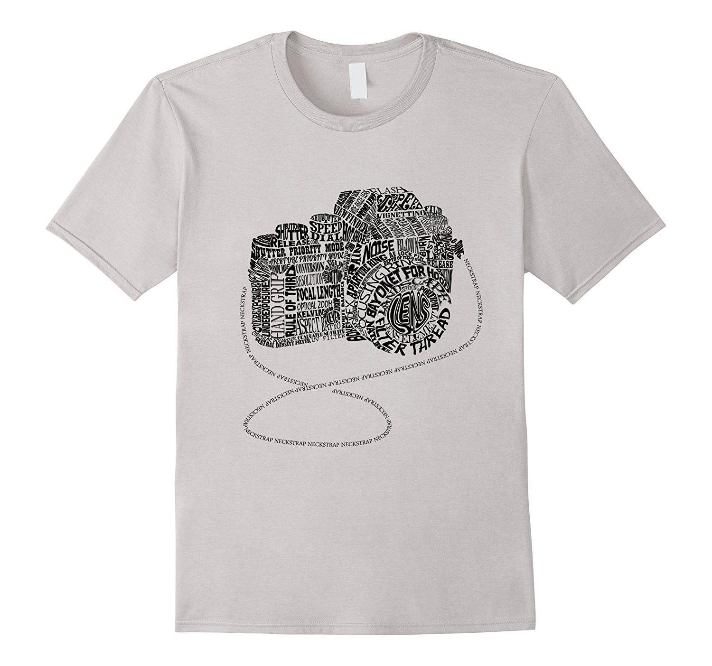 Camera Amazing Anatomy Typography T-shirt Black Version