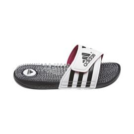 adidas Women s Adissage Fade Slide Sandals - White Black Pink 9bb1d93d9451