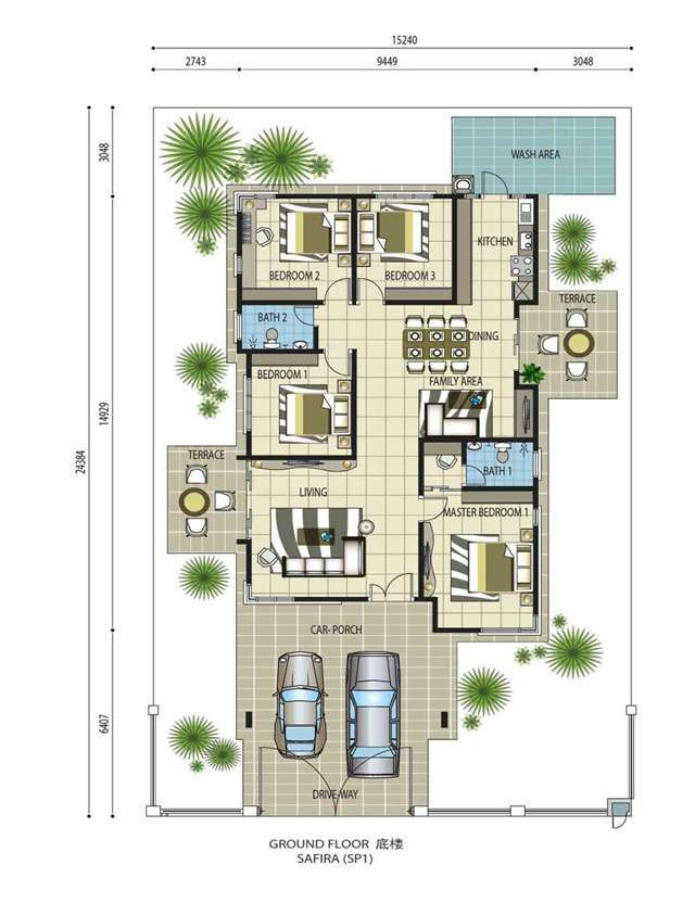 Pin By Hyired On Safira Impian Villa Kluang House Plans With Pictures House Plans Classic House Design