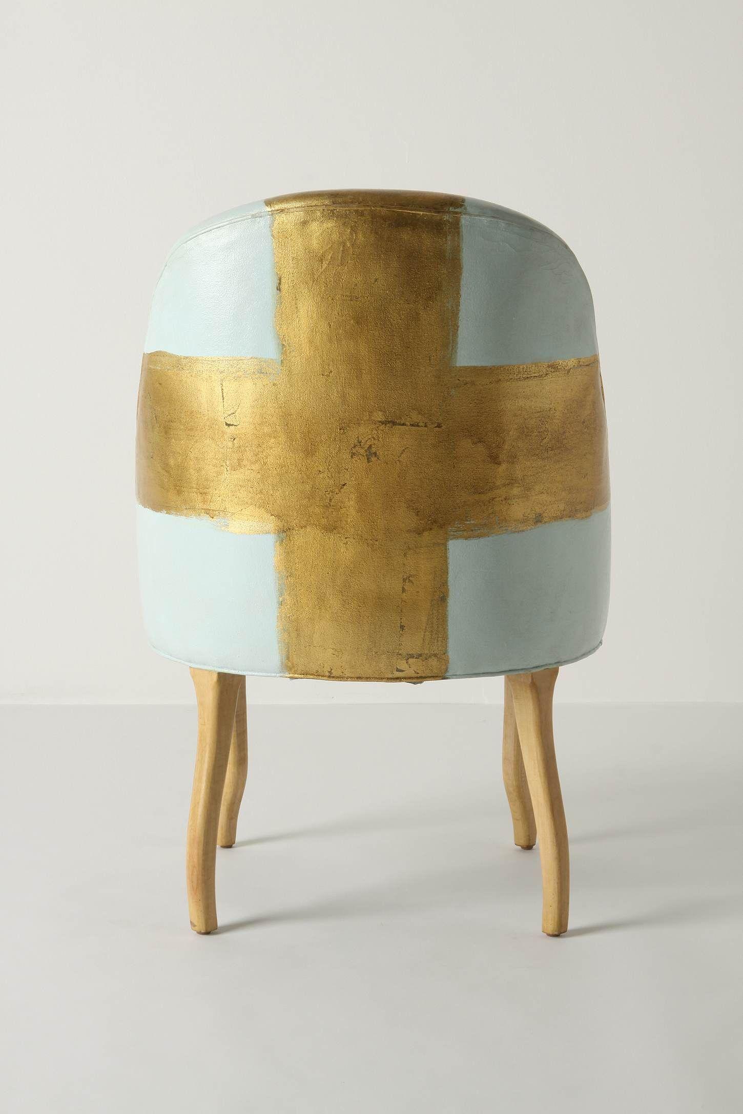 Painted Bias Armchair