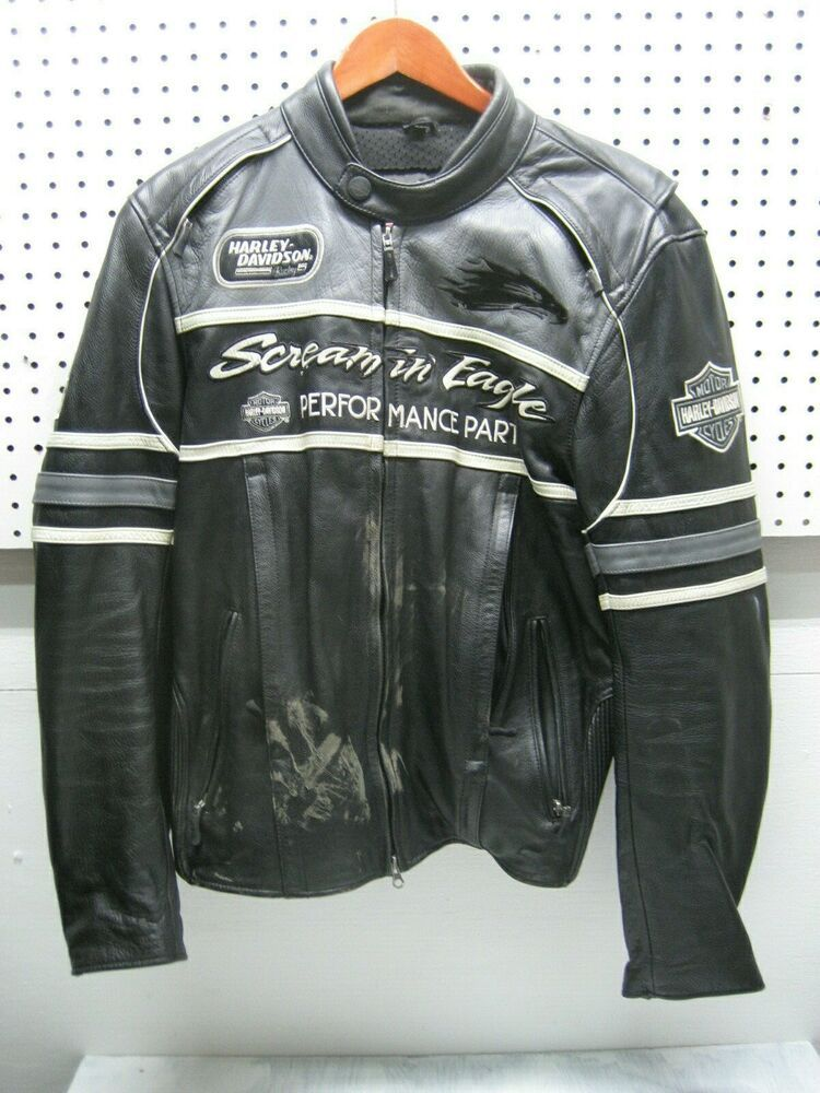 Details about HARLEY DAVIDSON RACING genuine leather