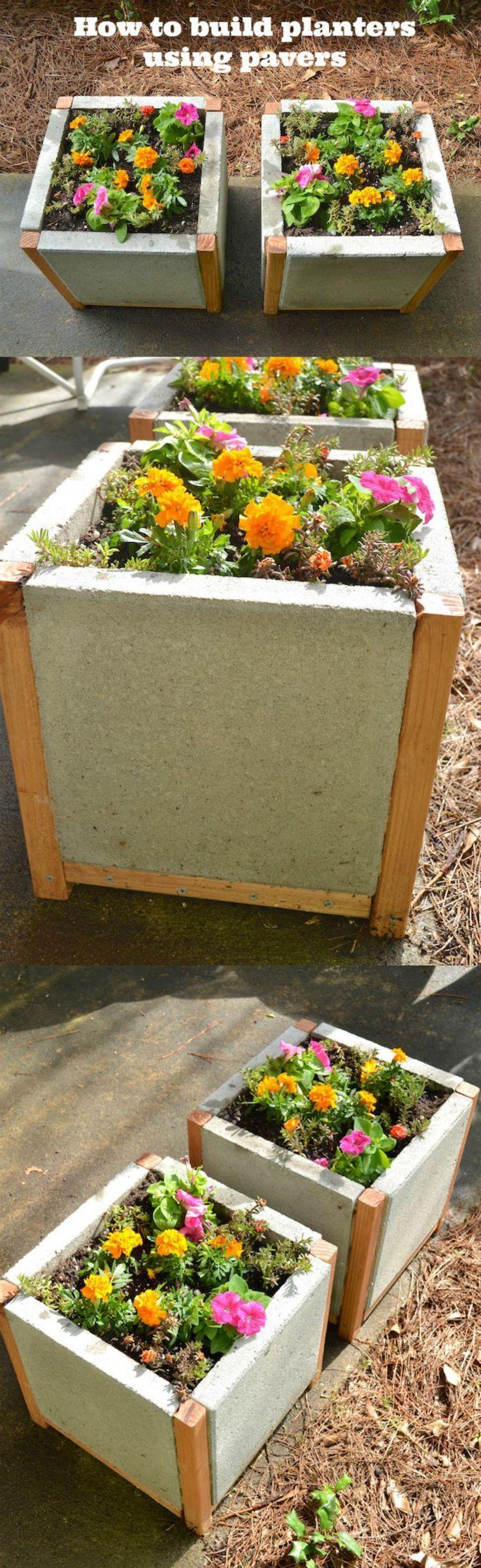 Build a paver planter the easy way pavers diy diy
