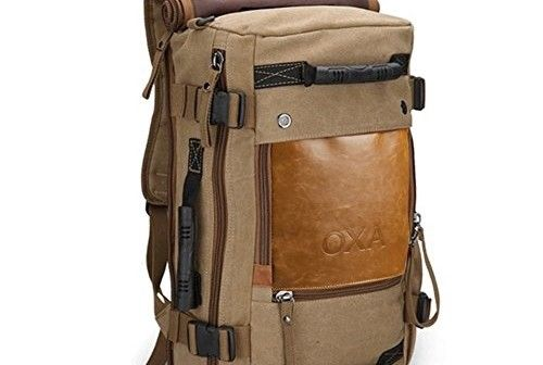 OXA Vintage Canvas Backpack Laptop Bag Review  2744e9bd2a235