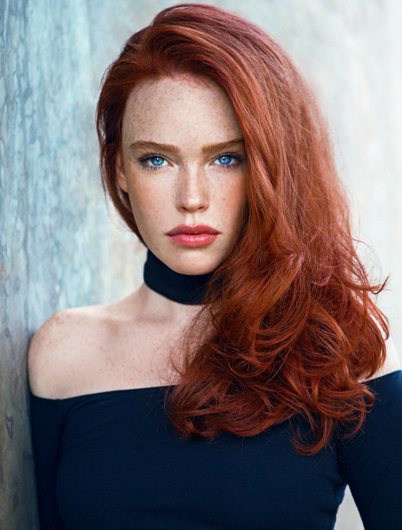 Time To Shine In Medium Length Hairstyles Red Hair Blue Eyes