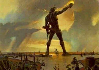 El Coloso de Ruedas ,se parece un poco a la estatua de la libertad ,no???