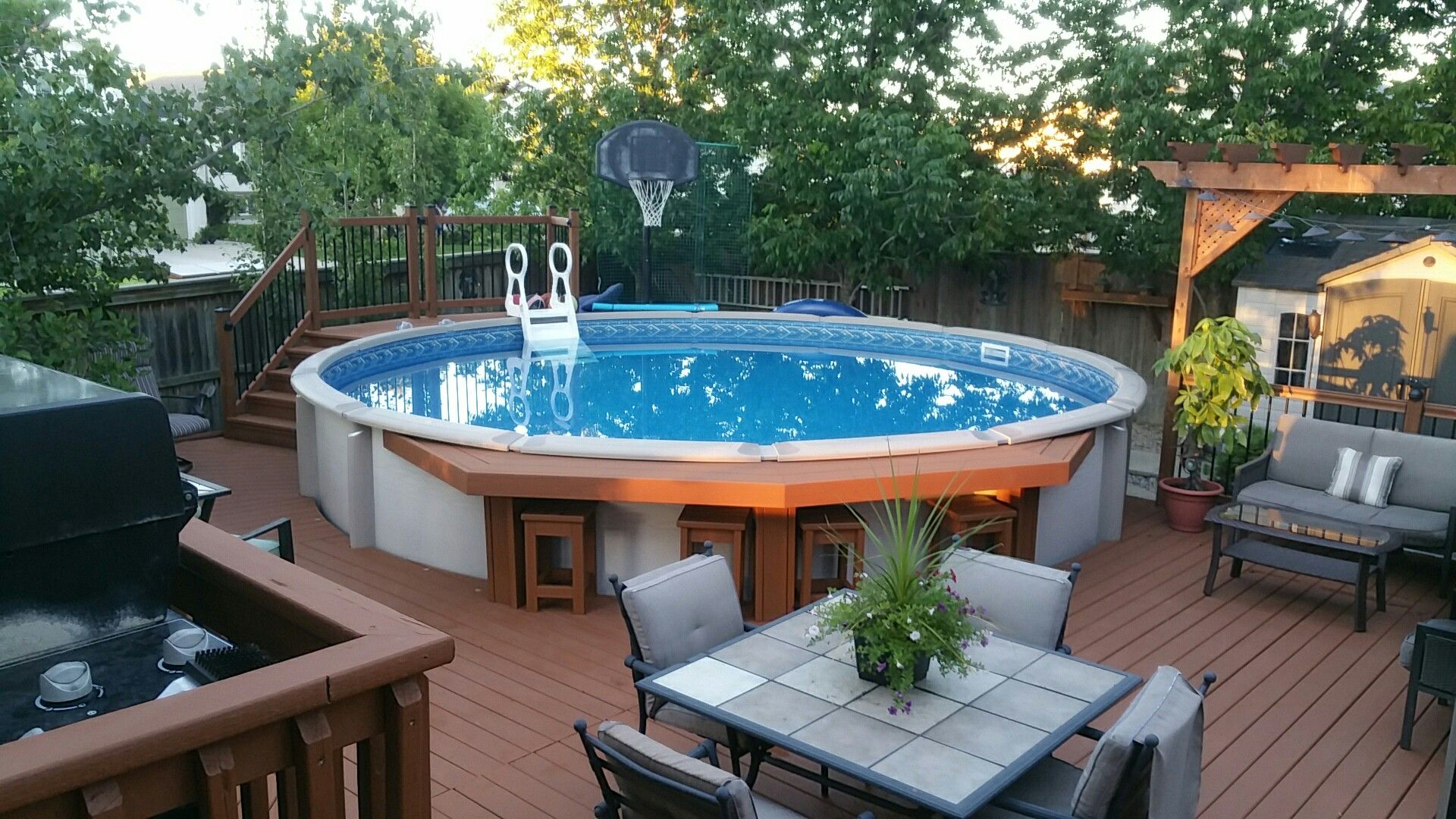 Pool Bar   Pool houses, Decks around pools, Backyard patio