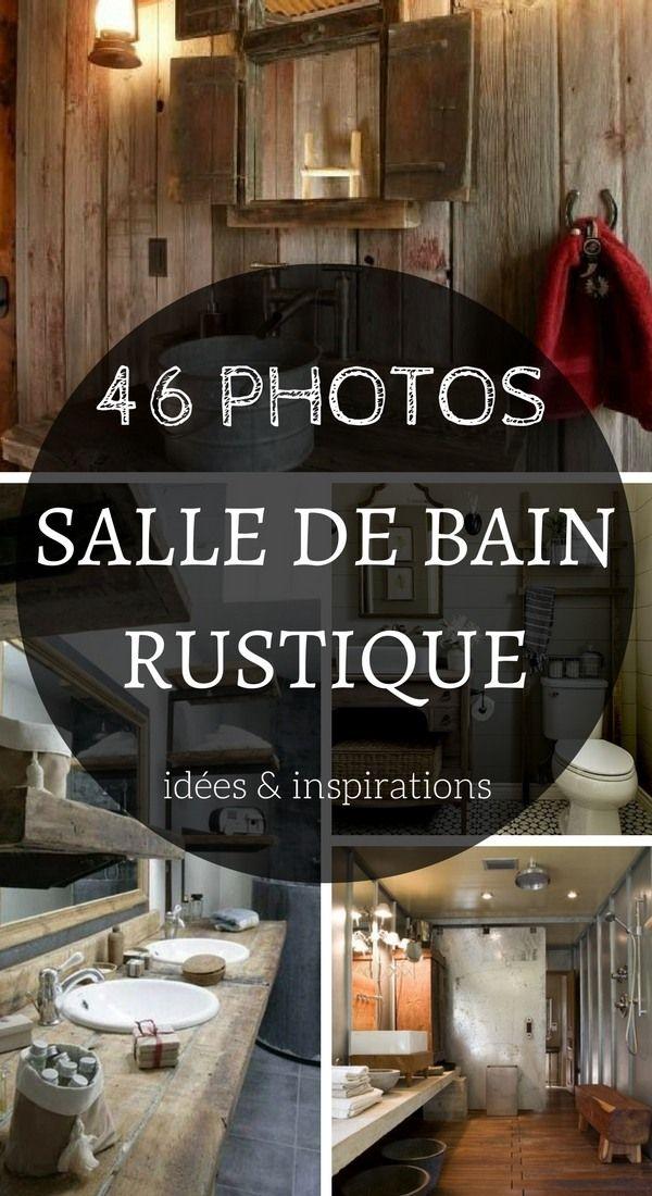 Salle de Bain Rustique : 46 Idées & Inspirations (PHOTOS) | sdb ...