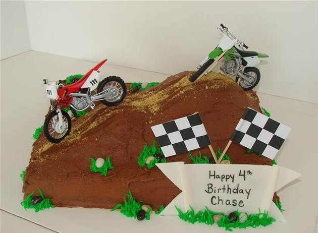 dirt bike cake ideas Bing Images Boys 6th birthday Pinterest