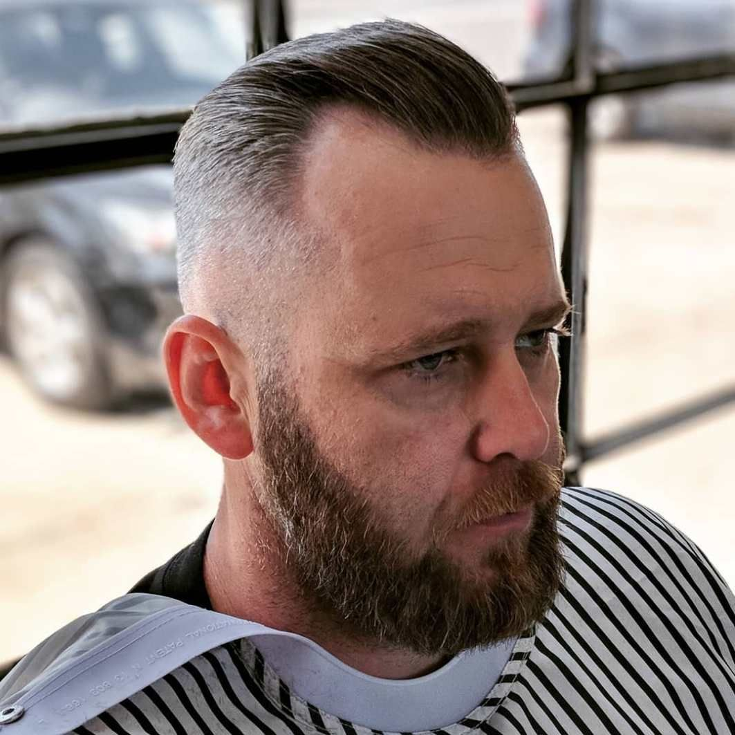 Pin On Grey Hair Styles With Beard