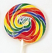 "Rainbow Whirly Pops 4"" 48ct Candy in Bulk 