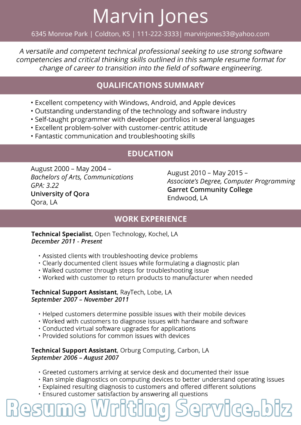 Functional Resume Template 2019