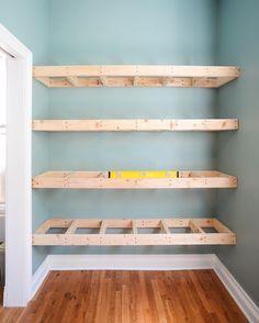 DIY Floating Shelves for Easy Storage #floatingshelves