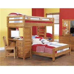 Canyon Creekside Bunkbed With Desk Bunk Beds Bunk Bed With Desk Bedroom Furniture Stores