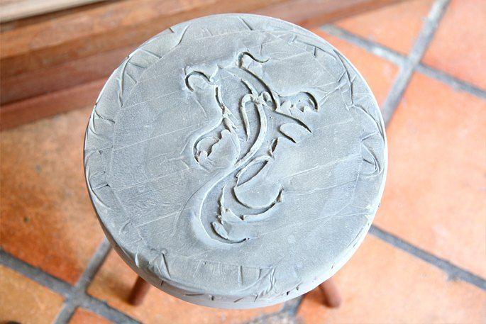 diy remix koi fish 5 bucket stool, diy, home decor, outdoor furniture