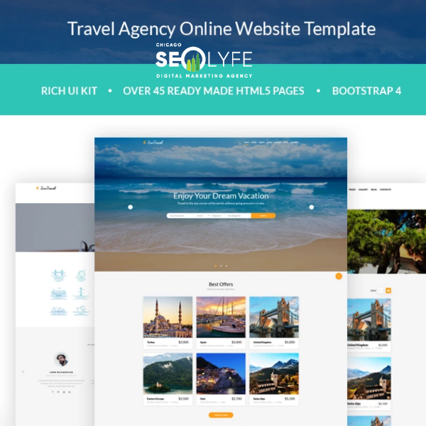 This Is A Short Document That Ensures Brand Design Consistency Chicago Seo Lyfe Marketing Agency Travel Website Templates Online Travel Agency Travel Agency