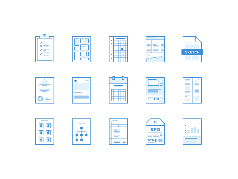 Lil Pages | Wireframe, Icons and Pictogram