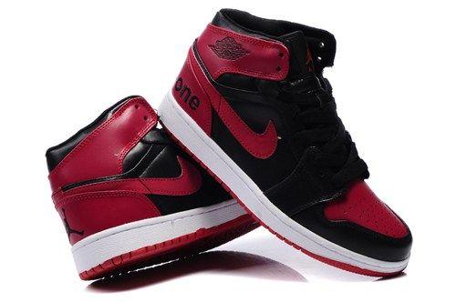 wholesale dealer aa727 5eaf6 New Air Jordan 1 I Mens shoes High Cut Warm For Winter Outlet Black Red