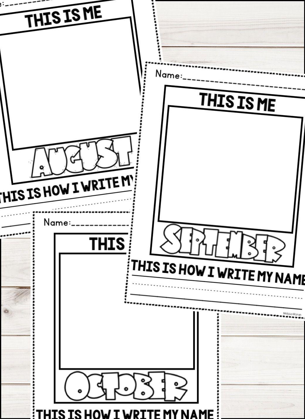 Kindergarten Monthly Self Portraits Name Writing Writing Printables Free Preschool Worksheets [ 1430 x 1040 Pixel ]