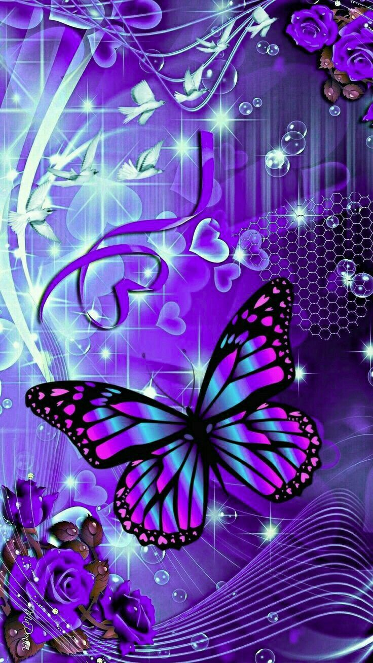 Magical Blue background wallpapers, Butterfly wallpaper