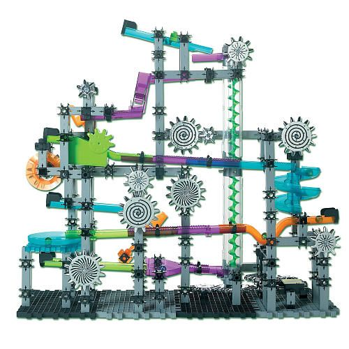 This High Tech Version Of Marble Mania Has Over 450 Pieces