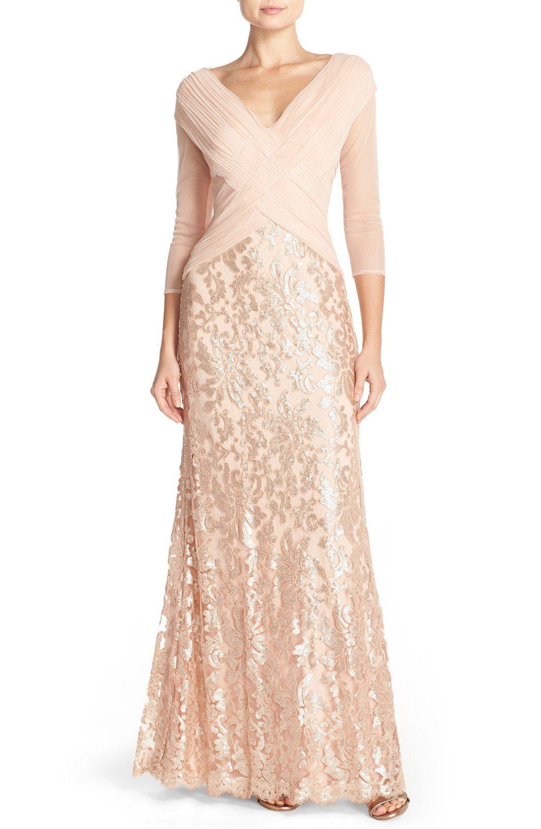 Tadashi Shoji Sequin Lace Gown (Regular & Petite) | Nordstrom | My ...